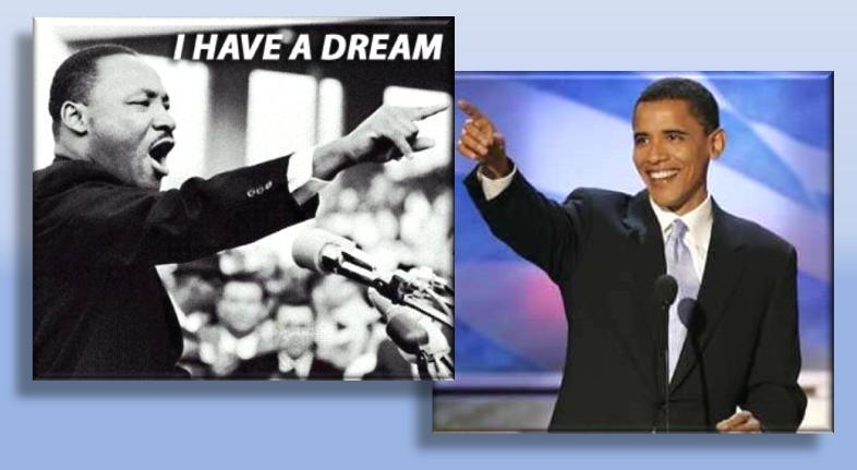 barack obama martin l king the King vs obama september 25 martin luther king jr made a vast change in our society barack obama would have never been able to have the change of.