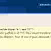 Service FTP de Blogger c'est fini !!