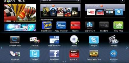 Samsung TV's Smart Hub
