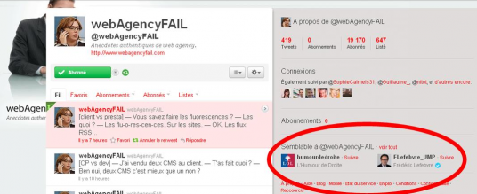 Recommandations Twitter fort A Propos